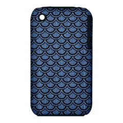 Scales2 Black Marble & Blue Denim (r) Apple Iphone 3g/3gs Hardshell Case (pc+silicone) by trendistuff