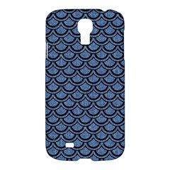 Scales2 Black Marble & Blue Denim (r) Samsung Galaxy S4 I9500/i9505 Hardshell Case by trendistuff
