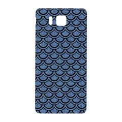 Scales2 Black Marble & Blue Denim (r) Samsung Galaxy Alpha Hardshell Back Case by trendistuff