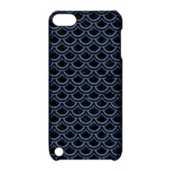 Scales2 Black Marble & Blue Denim Apple Ipod Touch 5 Hardshell Case With Stand by trendistuff