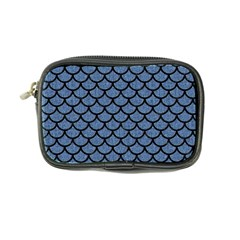 Scales1 Black Marble & Blue Denim (r) Coin Purse by trendistuff
