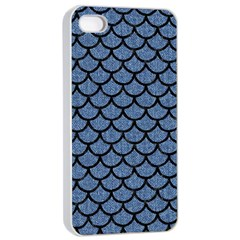 Scales1 Black Marble & Blue Denim (r) Apple Iphone 4/4s Seamless Case (white) by trendistuff