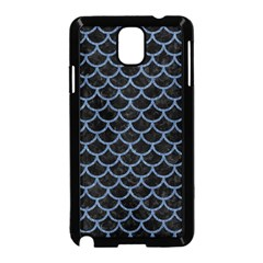 Scales1 Black Marble & Blue Denim Samsung Galaxy Note 3 Neo Hardshell Case (black) by trendistuff