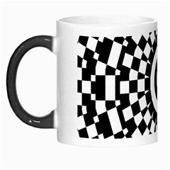 Checkered Black White Tile Mosaic Pattern Morph Mugs by CrypticFragmentsColors