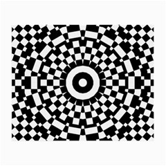 Checkered Black White Tile Mosaic Pattern Small Glasses Cloth by CrypticFragmentsColors