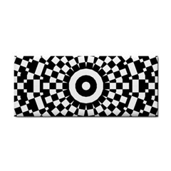 Checkered Black White Tile Mosaic Pattern Cosmetic Storage Cases by CrypticFragmentsColors