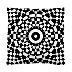 Checkered Black White Tile Mosaic Pattern Standard Cushion Case (One Side) Front