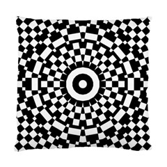 Checkered Black White Tile Mosaic Pattern Standard Cushion Case (two Sides) by CrypticFragmentsColors
