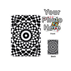 Checkered Black White Tile Mosaic Pattern Playing Cards 54 (mini)  by CrypticFragmentsColors