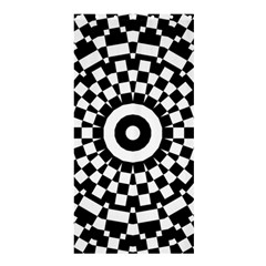 Checkered Black White Tile Mosaic Pattern Shower Curtain 36  X 72  (stall)  by CrypticFragmentsColors