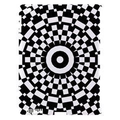 Checkered Black White Tile Mosaic Pattern Apple Ipad 3/4 Hardshell Case (compatible With Smart Cover) by CrypticFragmentsColors
