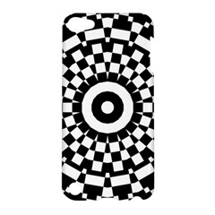 Checkered Black White Tile Mosaic Pattern Apple Ipod Touch 5 Hardshell Case by CrypticFragmentsColors