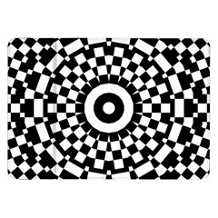Checkered Black White Tile Mosaic Pattern Samsung Galaxy Tab 8 9  P7300 Flip Case by CrypticFragmentsColors