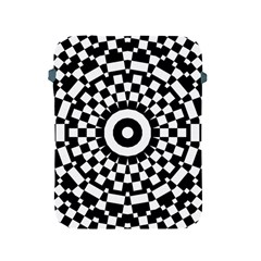 Checkered Black White Tile Mosaic Pattern Apple Ipad 2/3/4 Protective Soft Cases by CrypticFragmentsColors