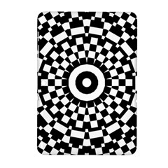Checkered Black White Tile Mosaic Pattern Samsung Galaxy Tab 2 (10 1 ) P5100 Hardshell Case  by CrypticFragmentsColors