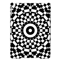 Checkered Black White Tile Mosaic Pattern Ipad Air Hardshell Cases by CrypticFragmentsColors