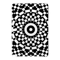 Checkered Black White Tile Mosaic Pattern Samsung Galaxy Tab Pro 10 1 Hardshell Case by CrypticFragmentsColors