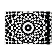 Checkered Black White Tile Mosaic Pattern Ipad Mini 2 Flip Cases by CrypticFragmentsColors