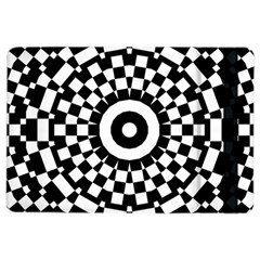 Checkered Black White Tile Mosaic Pattern Ipad Air 2 Flip by CrypticFragmentsColors