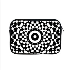Checkered Black White Tile Mosaic Pattern Apple Macbook Pro 15  Zipper Case by CrypticFragmentsColors