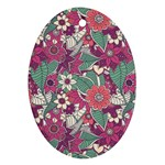 Seamless Floral Pattern Background Ornament (Oval) Front