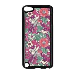 Seamless Floral Pattern Background Apple Ipod Touch 5 Case (black) by TastefulDesigns