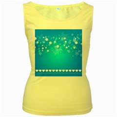 Blue Dot Star Women s Yellow Tank Top