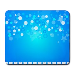 Blue Dot Star Large Mousepads by Simbadda