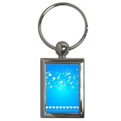 Blue Dot Star Key Chains (rectangle)