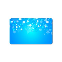 Blue Dot Star Magnet (name Card)