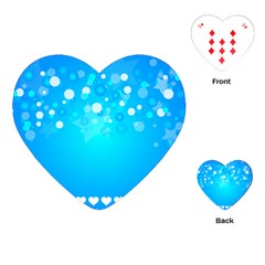 Blue Dot Star Playing Cards (heart)