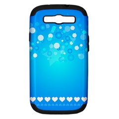 Blue Dot Star Samsung Galaxy S Iii Hardshell Case (pc+silicone) by Simbadda