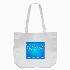 Blue Dot Star Tote Bag (white)