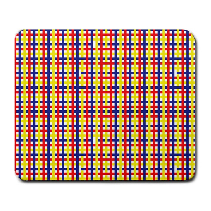 Yellow Blue Red Lines Color Pattern Large Mousepads