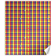 Yellow Blue Red Lines Color Pattern Canvas 20  X 24