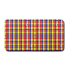 Yellow Blue Red Lines Color Pattern Medium Bar Mats