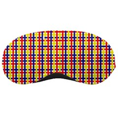 Yellow Blue Red Lines Color Pattern Sleeping Masks