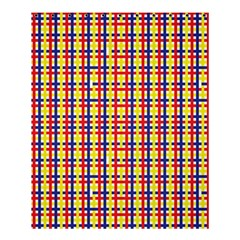 Yellow Blue Red Lines Color Pattern Shower Curtain 60  X 72  (medium)  by Simbadda
