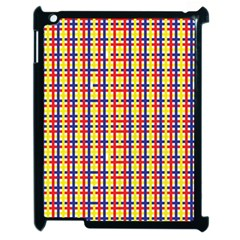 Yellow Blue Red Lines Color Pattern Apple Ipad 2 Case (black) by Simbadda