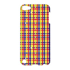 Yellow Blue Red Lines Color Pattern Apple Ipod Touch 5 Hardshell Case by Simbadda