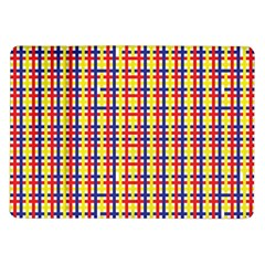 Yellow Blue Red Lines Color Pattern Samsung Galaxy Tab 10 1  P7500 Flip Case by Simbadda