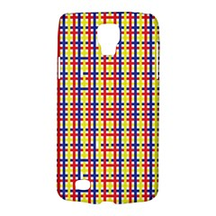 Yellow Blue Red Lines Color Pattern Galaxy S4 Active