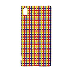 Yellow Blue Red Lines Color Pattern Sony Xperia Z3+ by Simbadda