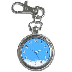 Blue Sky Clouds Day Key Chain Watches by Simbadda