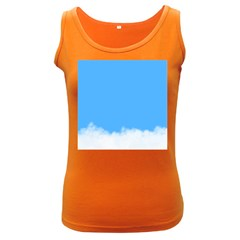 Blue Sky Clouds Day Women s Dark Tank Top by Simbadda