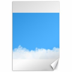 Blue Sky Clouds Day Canvas 20  X 30   by Simbadda
