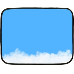 Blue Sky Clouds Day Fleece Blanket (mini) by Simbadda