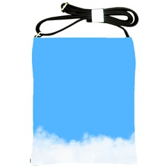 Blue Sky Clouds Day Shoulder Sling Bags by Simbadda