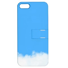 Blue Sky Clouds Day Apple Iphone 5 Hardshell Case With Stand by Simbadda