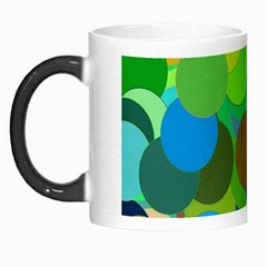 Green Aqua Teal Abstract Circles Morph Mugs by Simbadda